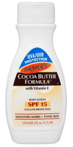 Cocoa butter formula met SPF 15