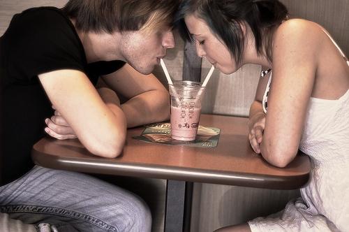 Liefde is samen eten delen date