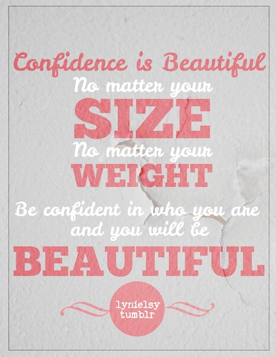 body positivity quote confidence