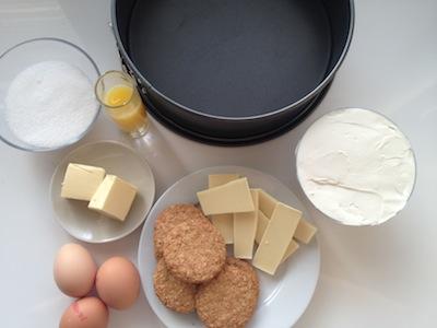 Cheesecake ingredienten