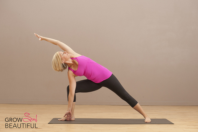 Extended side angle pose yoga