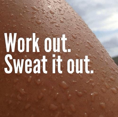 Fitness junkie op instagram zweten