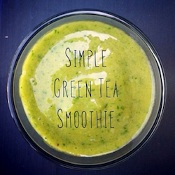 Instagram Simple green smoothies recept green tea smoothie