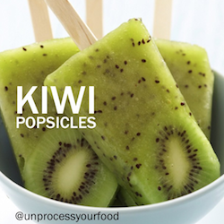 Instagram Unprocessyourfood kiwi popsicles