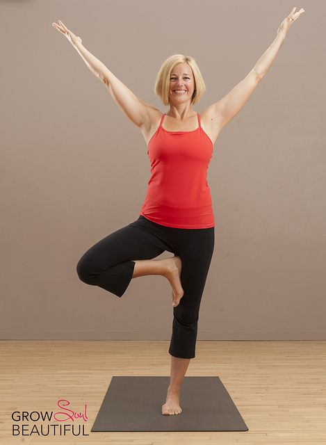 Tree pose yoga move