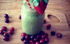 cranberry green smoothie