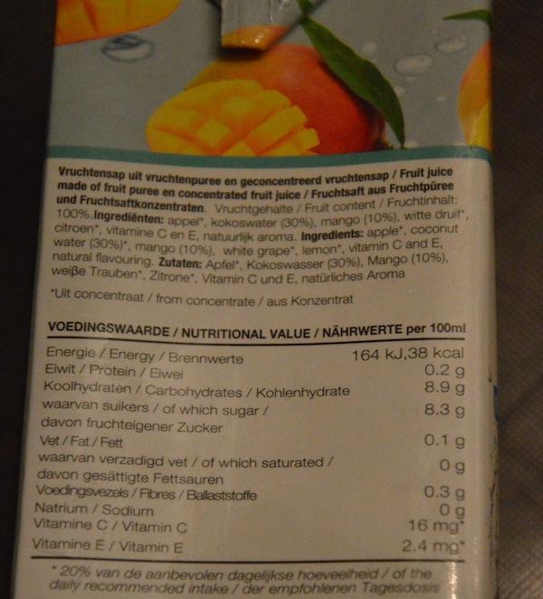 ingredienten healthy people mango kokoswater