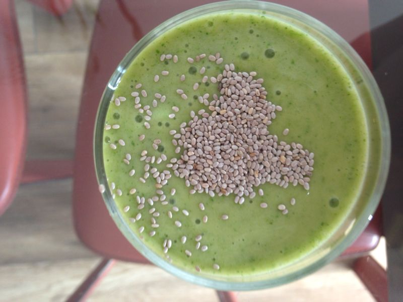 smoothie green coconut