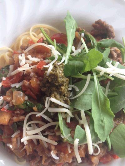 Verse homemade pastasaus