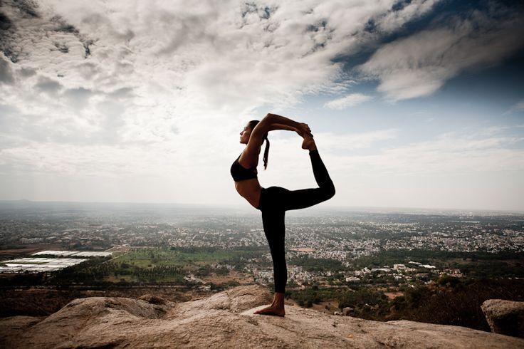 yoga move met uitzicht