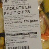 Ingredienten groente en fruitchips de zuidmolen