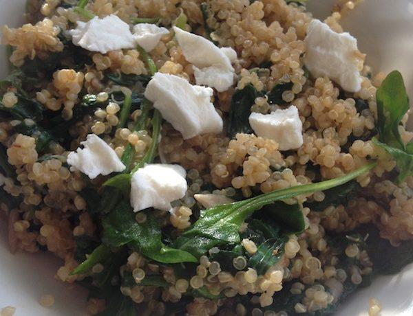 Salade van Quinoa en spinazie
