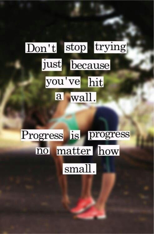 Motivatie quote dont stop trying