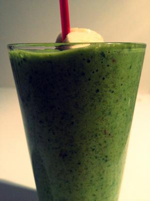Green Halloween smoothie met pompoen