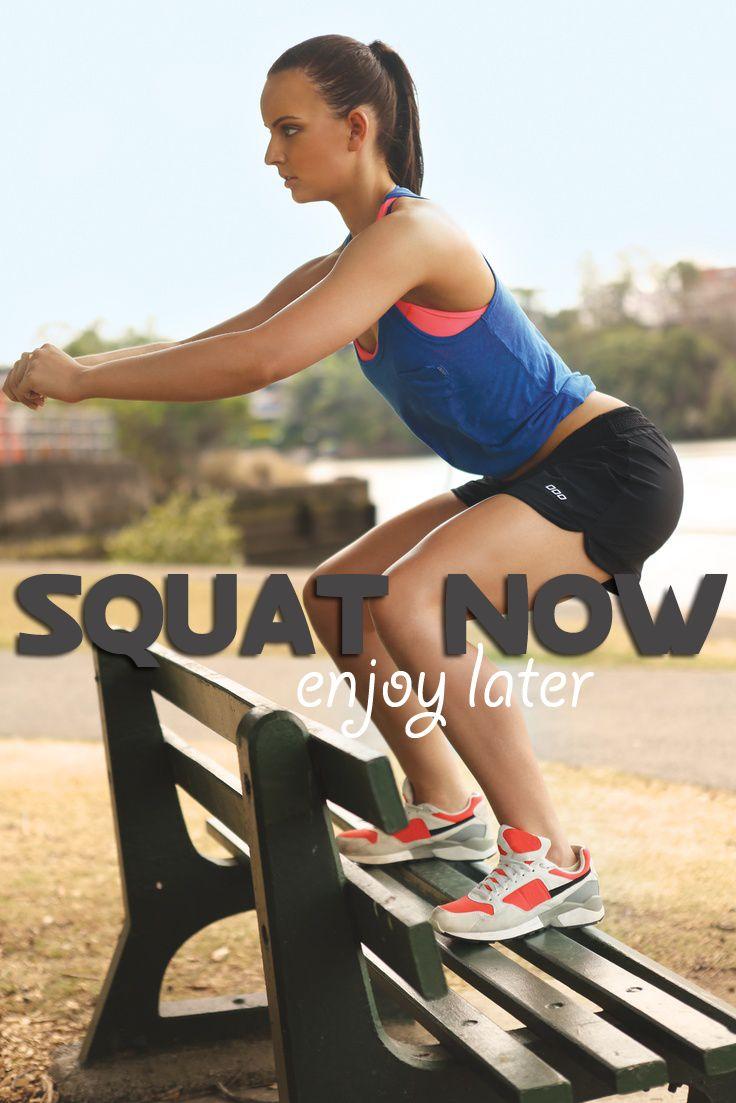 Motivatie quote squat now enjoy later