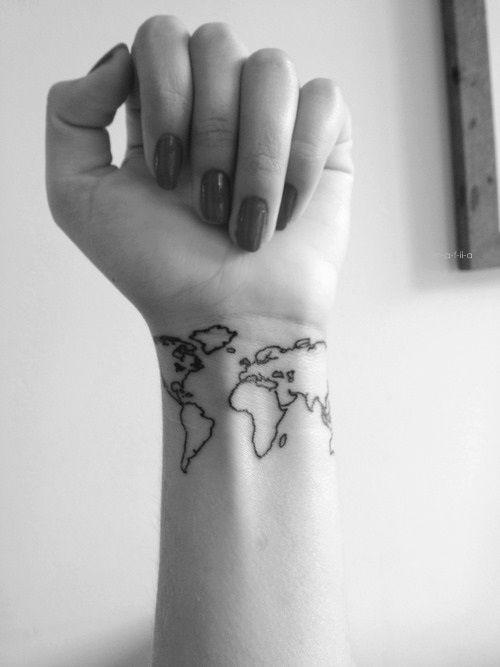 wereld tattoo