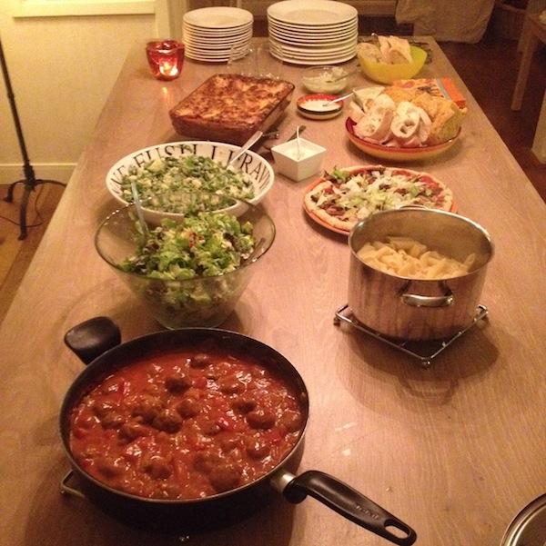 Eetdagboek buffet Italiaans