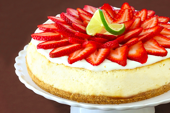 aardbei margarita cheesecake