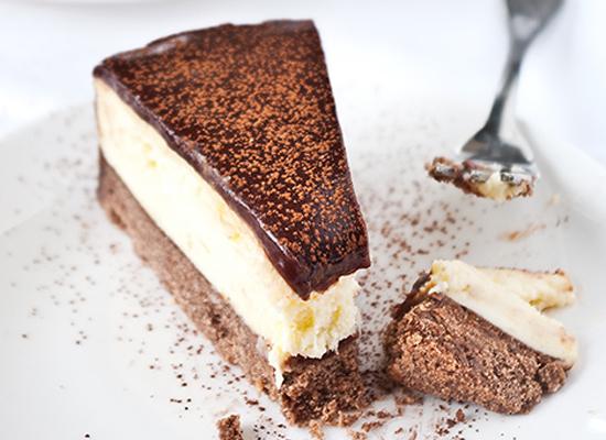 chocola en sinaasappel cheesecake