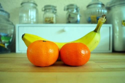 eetdagboek banaan en mandarijnen