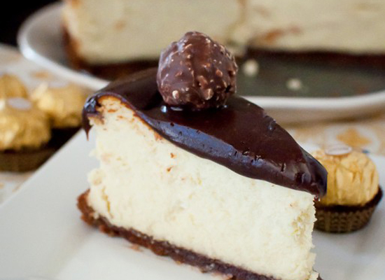 nutella genache cheesecake