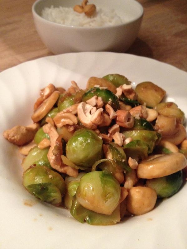 oosterse Spruitjes uit de wok met rijst