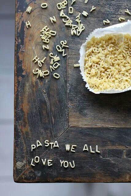 Zeg het met pastaletters