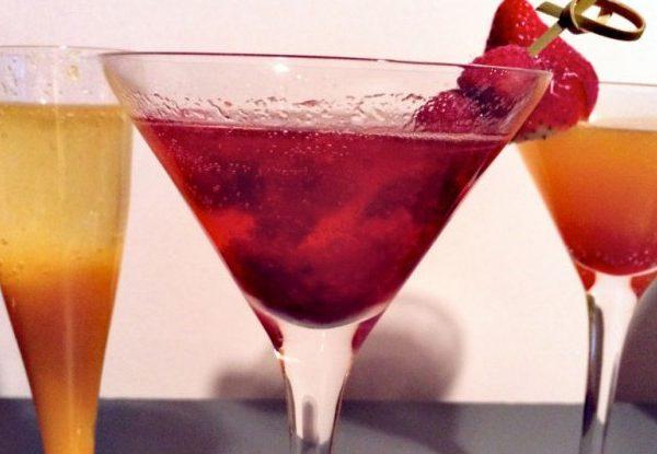 Feest cocktails met champagne