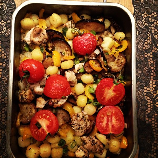 Kip met groenten uit de oven