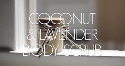 Kokos lavendel scrub DIY
