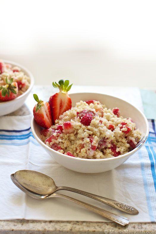 Food Friday Quinoa aardbeien ontbijt