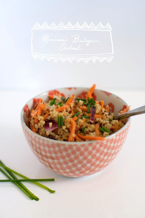 Food Friday Quinoa bulgur salad