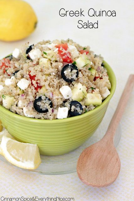 Food Friday Quinoa griekse stijl