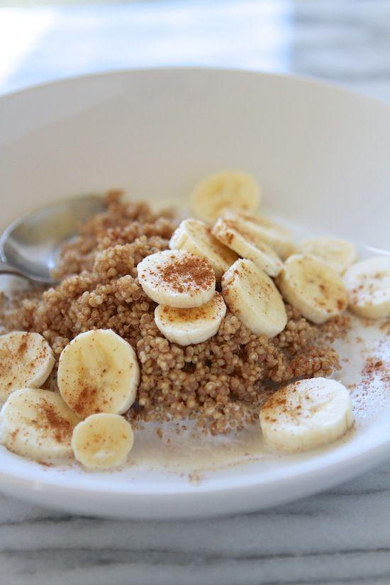 Food Friday Quinoa ontbijt met banaan en kaneel