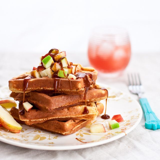 Food friday wafels met appel en caramel