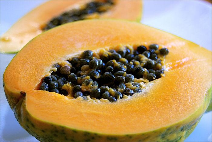 Papayas zijn goed voor je huid