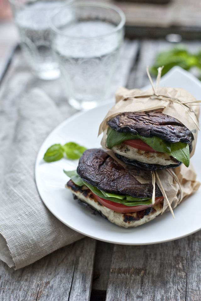 food friday hamburgers portobello caprese