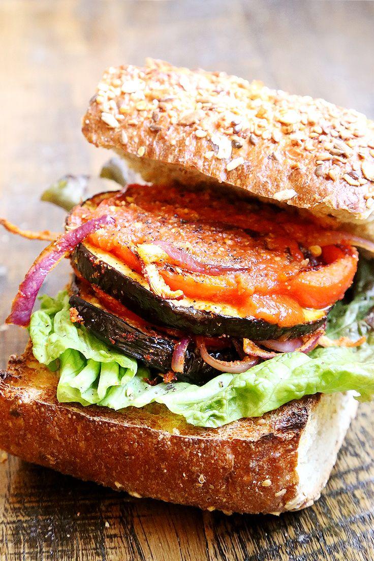 food friday hamburgers vegetarisch met aubergine