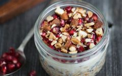 food friday havermout overnight oats met granaatappel