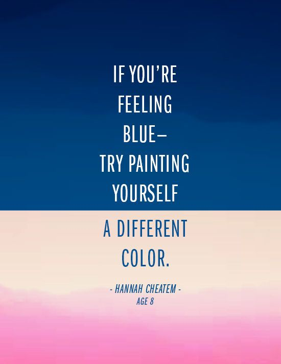 motivatie maandag blue monday quote color