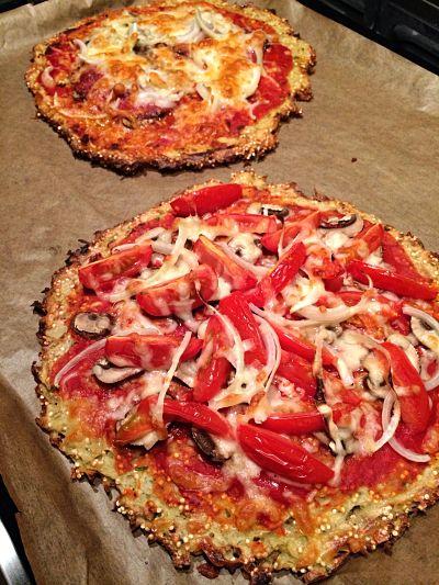 pizza van quinoa en aardappel
