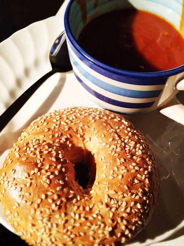 Eetdagboek Britte week 8 bagel en soep