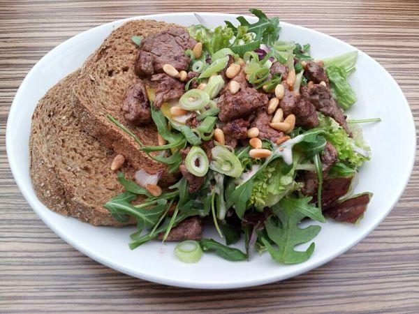 Eetdagboek Marjolein salade met runderreepjes