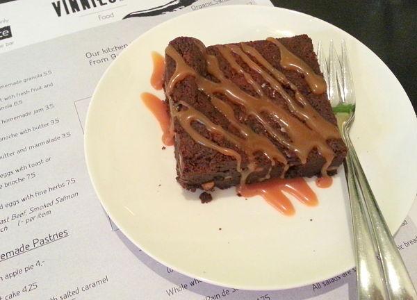 Eetdagboek bianca brownie met caramel