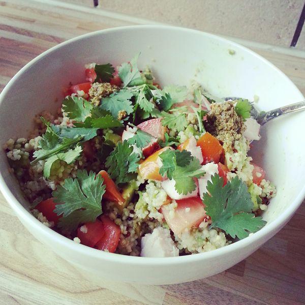 Eetdagboek bianca salade met quinoa