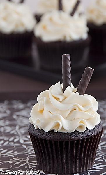 Food friday cupcake met pure chocolade en pepermunt