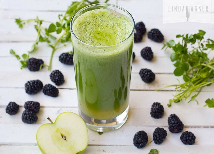 Food friday groene smoothie met appel en bramen