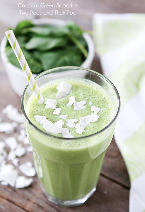 Food friday groene smoothie met kokos