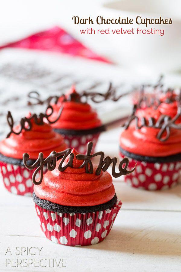 Food friday valentijnsdag chocolade cupcakes
