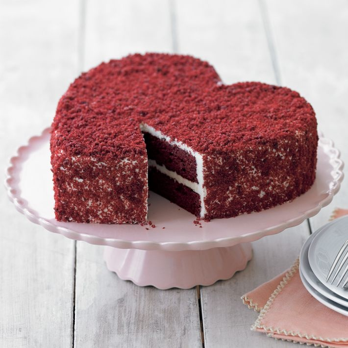 Food friday valentijnsdag taart in hartvorm